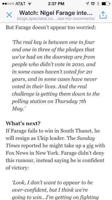 Farage non-voters