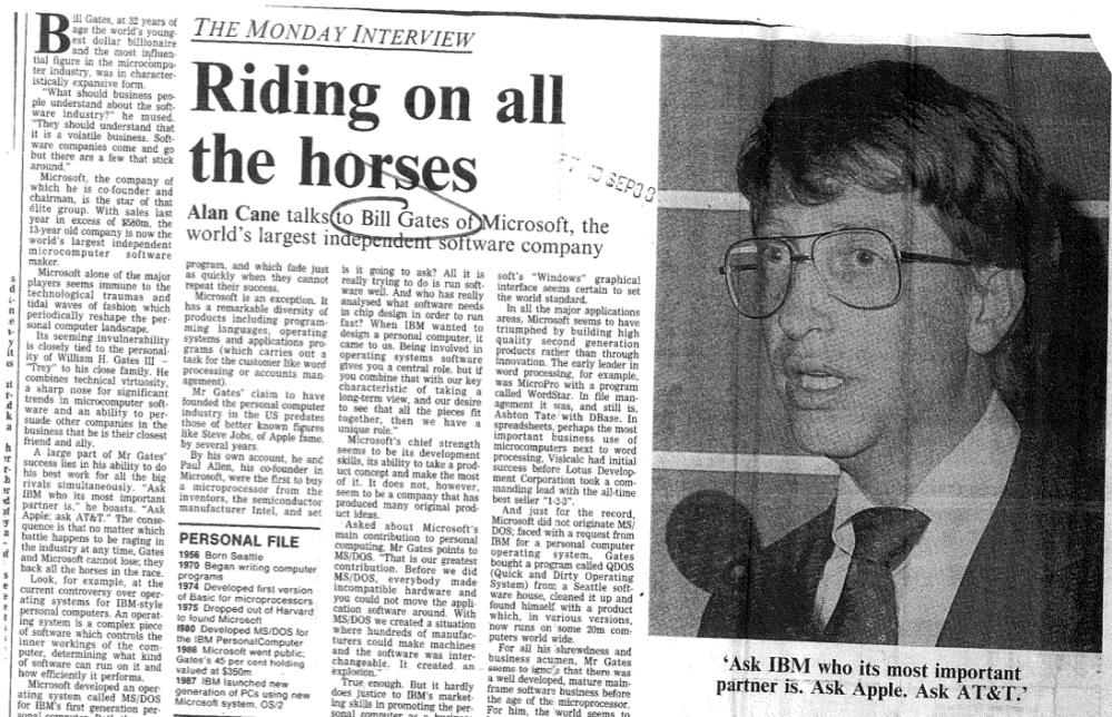Alan Cane Bill Gates J